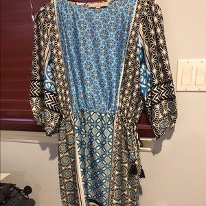 Silk peasant dress